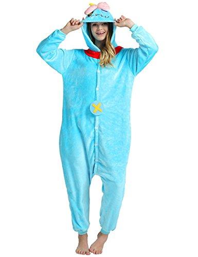 NoraHouse Unisex Adult Kigurumi Pajamas Cosplay Costume Sleepwear (M fit for Height(4'77