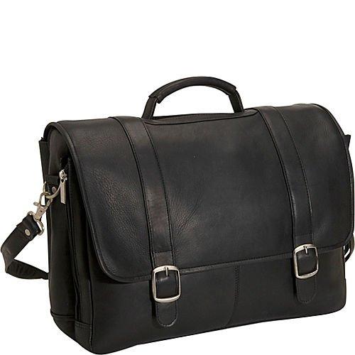 David King & Co. Porthole Laptop Briefcase, Black, One Size