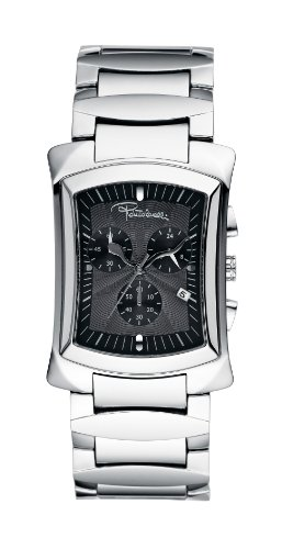 Roberto Cavalli Ladies Tomahawk Chronograph Watch R7253900025 with Black Dial and Stainless Steel Case