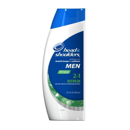 Head & Shoulders Refresh 2-In-1 Dandruff Shampoo + Conditioner For Men 14.2 Fl Oz (Pack of 2)