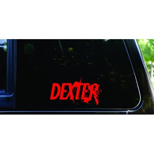 Blood spatter Dexter die cut vinyl decal / sticker (red)
