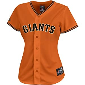 Buster Posey #28 San Francisco Giants Majestic Orange Replica Jersey (Youth Large) by Majestic Athletic