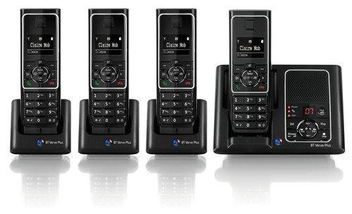 BT Verve Plus 450 Quad DECT Cordless Telephone with Answer Machine image
