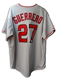 Autographed Hand Signed Vladimir Guerrero Anaheim Angels Gray Majestic Jersey by Hall of Fame Memorabilia