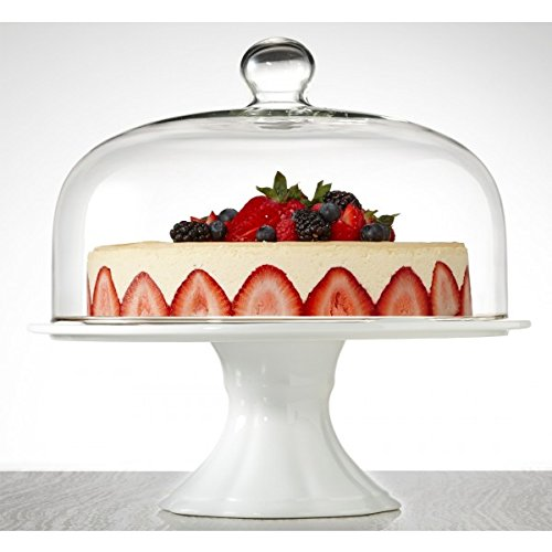 Brilliant - Bianco Extra Large Pedestal Cake Plate and Dome 33cm (13 Pedestal Cake Plate compare prices)