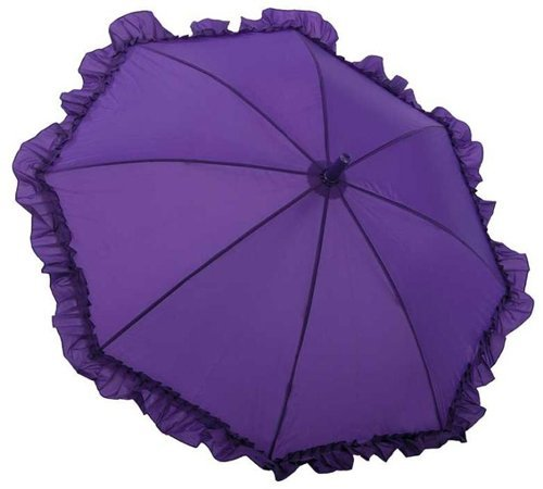 Galleria Kid's Ruffle Umbrella - Purple (Kids Ruffle-Purple)