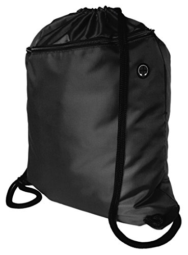 top-quality-drawstring-backpack-gym-bag-rucksack-large-zip-pocket-headphone-grommet-extra-thick-cord