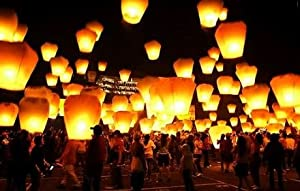 36 Sky Lanterns 1 Case White