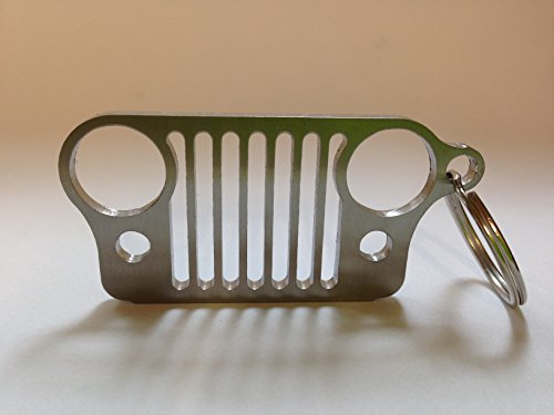 Boesch Built Stainless Steel Jeep Grill Key Chain