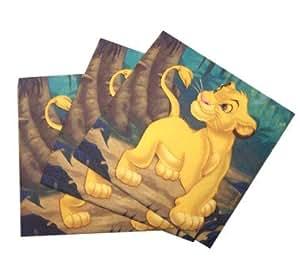 20x Lion King Party Paper Napkins