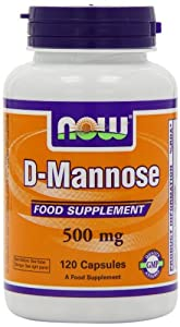 Now Foods 500mg D Mannose Capsules - Pack of 120 Capsules