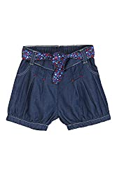 Chirpie Pie by Pantaloons Girl's Cotton Shorts (205000005616731, Blue, 18-24 Months)