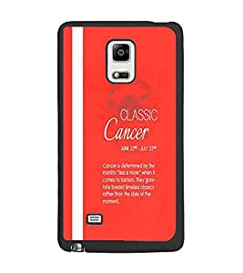 PrintDhaba Sunsign Cancer D-1229 Back Case Cover for SAMSUNG GALAXY NOTE EDGE (Multi-Coloured)