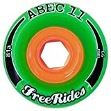 ABEC 11 FreeRides 66mm Longboard Wheels x4