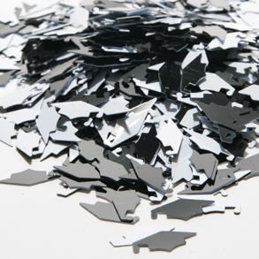 Great Features Of Black & White Grad Caps Confetti