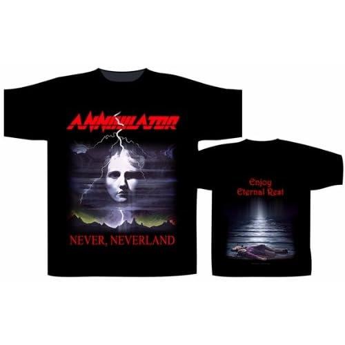 Official Merchandise Band T-Shirt - Annihilator - Never, Neverland