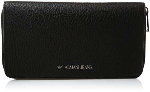 Armani-Jeans-Mens-Pu-Round-Zip-Wallet