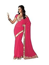 Subhash Sarees Daily Wear Pink Color Chiffon Saree Sari Sarees