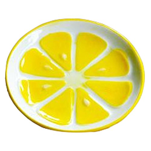 Creative Ceramic Fruit Tableware Cute Home Decorative saucer (Lemon)