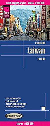 Taiwan, mapa impermeable de carreteras. Escala 1:300.000 impermeable. Reise Know-How.