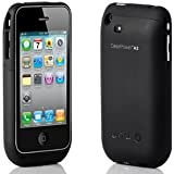 CasePower A3 - Protective Case and Extended Battery for iPhone 3G/3GS with Screen Protector - Black