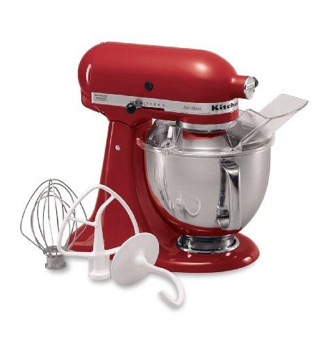 KitchenAid KSM150PSER Artisan Series 5-Quart Mixer, Empire Red