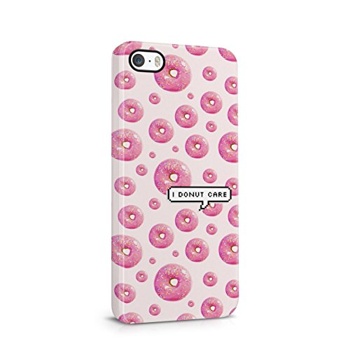 I Donut Care Pixel Bubble Donuts Pattern Hard Plastic Case Cover For iPhone SE (Special Edition)