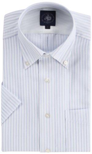 (ジェイプレス) J.PRESS アゼックシャドーオルタネートストライプシャツ(半袖)
