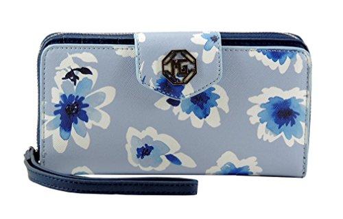 Portafoglio donna MARINA GALANTI pochette borsellino colorato Floreale BLU Navy