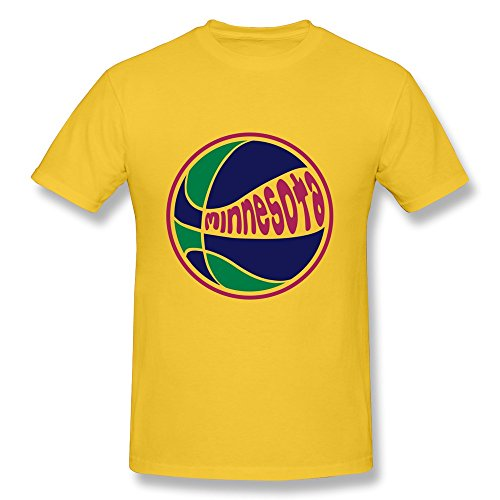 Minnesota Basketball Print 100% Cotton T Shirts For Men back-685719