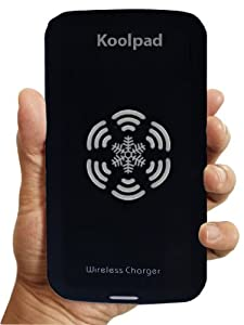 Koolpad Qi Wireless Charger Pad Compatible with Samsung Galaxy S6, Nexus 4, 5, 6, 7, Moto Droid Turbo, Maxx & Mini, Moto 360 Watch, Nokia Lumia Icon, 920, 928, HTC Droid DNA, Blackberry Z30, Sony Z3v, Samsung Galaxy S3, S4, S5, Note 3, Note 4, Alpha with PWRcard & SlimPWRcard, iPhone 6, 6 Plus, 5, 5c, 5s with iQi Mobile, and Other Qi-enabled Tablets & Phones (Black)