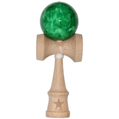 Jumbo Green Marble Super Kendama, Super Sticky, Japanese Wooden Toy, Free String, USA Seller