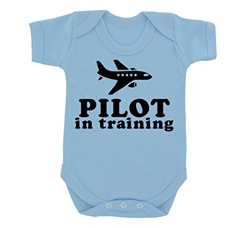 pilot-in-training-design-baby-body-sky-blau-mit-schwarz-print-gr-68-blau-himmelblau