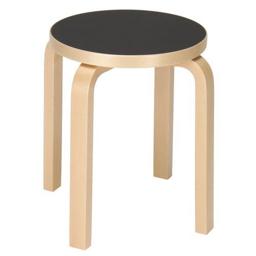 Artek アルテック スツール 4脚 Stool E60 4 legs リノウムブラック 椅子 イス 北欧 フィンランド 並行輸入品
