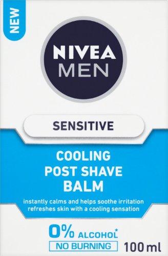 Nivea, Balsamo dopobarba rinfrescante per pelli sensibili - 100 ml, 3 pz.