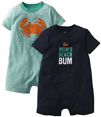 Carter's Baby Boys' 2 Pack Rompers (Baby) - Beach Bum - 3 Months