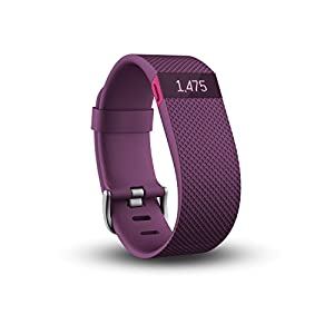 Fitbit Charge HR Heart Rate and Activity Wristband - Plum, Large