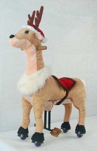 UFREE Ride on Toy Deer,Unique Gift Moving Rocking Horse, Really Go for Kids 3 to 5 Years Old