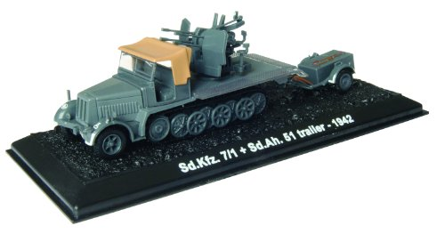 Sd.Kfz. 7/1 + Sd.Ah.51 - 1942 diecast 1:72 armored vehicle (Amercom BG-3)