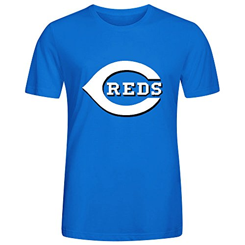 Cincinnati Reds Crew Neck MLB Team Men Slim Fit T Shirt Blue