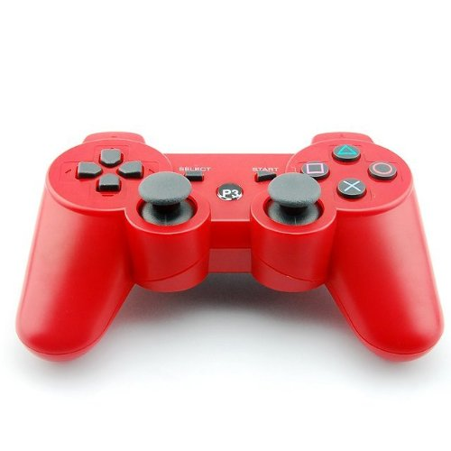 New Red Dual Shock Wireless Bluetooth Game Controller For Sony Playstation Ps3