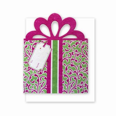 Grow A Note® Gift Card Holder Fuscia/Green