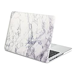 Gmyle Hard Case Print Frosted (Marble Pattern) for 13 inch Macbook Pro with Retina Display - White Marble