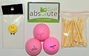 48 Various Brands Pink Recycled Golf Balls,Grade A B With Free Tee
