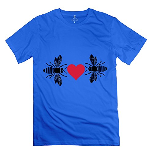 Particular Bee Love Honey Bumble - Making T-shirts For Men RoyalBlue