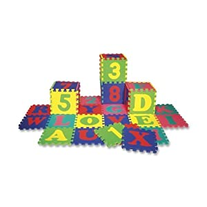 CKC4390 - Letters and Numbers Puzzle Mat, 36 Piece,Assorted Colors