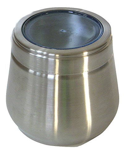 Qualways Stainless Steel Large Belly Tin, 2 LB Stainless Steel Canister (Candy Jar For Office compare prices)