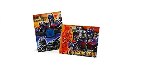 Transformers Revenge of the Fallen BIRTHDAY Invitations & Thank You Notes - 8 ct ea - 1