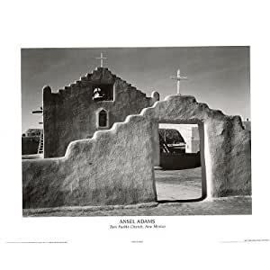 Ansel adams mural project taos pueblo church for Ansel adams mural project
