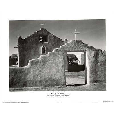 Best price 16x20 ansel adams taos pueblo church new for Ansel adams the mural project posters